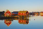 Fishing huts in Reine — Stock Photo
