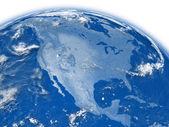 North America on blue Earth — Stock Photo