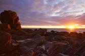 Słońce o północy — Zdjęcie stockowe