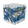 Earth cube with atmosphere - Foto de Stock  