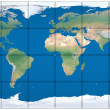 World map made of blocks — Stock Photo #24397867