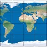 World map made of blocks — Stock Photo