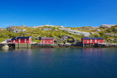 Norwegian fishing huts — Stock Photo