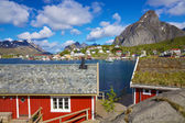 Norwegian fishing town — Stock Photo