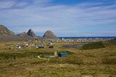 挪威小镇 sorland — 图库照片