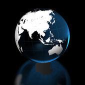 Země na černém pozadí — Stock fotografie