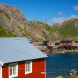 Fishing huts in Nusfjord — Stock Photo