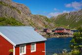 Chozas de la pesca en nusfjord — Foto de Stock