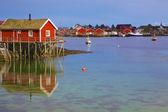 Norwegian fishing harbor — Stock Photo