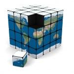 World cube — Stock Photo