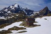 Mountain hut in Norway — Stock Photo