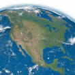 North America on blue Earth — Stock Photo #25889329
