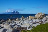 каменистый берег в норвегии — Стоковое фото