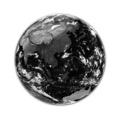Southeast Asia on black Earth — Stock Photo