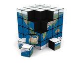 Earth blocks — Stock Photo