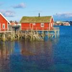 Norwegian fishing houses — Stock Photo #27033663