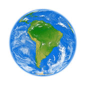 South America on Earth — Stock Photo
