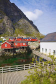 Fishing huts in Norway — Stock Photo