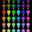 Colored lightbulbs — Stock Photo