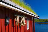 Rorbu hut — Stockfoto