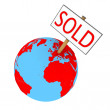 Stock Photo: Sold planet