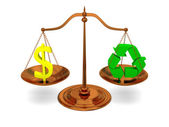 Justice and ecology — Stock Photo