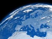 Europe on blue Earth — Stock Photo
