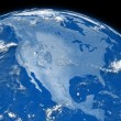 North America on blue Earth — Stock Photo #28073793