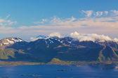 Scenic coastline on Lofoten — Stock Photo