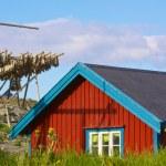 Picturesque fishing hut — Stock Photo