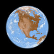 North America on Earth — Foto Stock