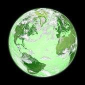 Grüne erde — Stockfoto