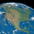 North America on blue Earth — Stock Photo #34599313