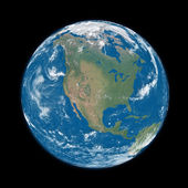 North America on blue Earth — Stock Photo
