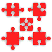 Red puzzle piece — Stock Photo