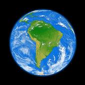 América del sur en la tierra — Foto de Stock