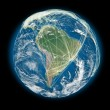 Connected world South America view — Stock Photo