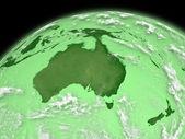 L'australie sur terre verte — Photo