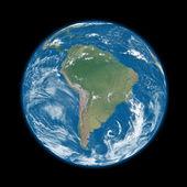 L'amérique du sud sur terre bleue — Photo