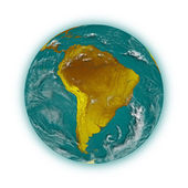 South America on planet Earth — Stockfoto