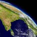 Постер, плакат: India from space