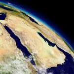 Постер, плакат: Arabian peninsula from space