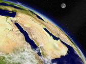 Arabian peninsula from space — Stock Photo