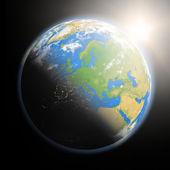 Salida del sol sobre Europa — Foto de Stock