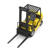 Wózek widłowy żółty — Zdjęcie stockowe
