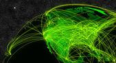 Nordamerika nätverk — Stockfoto