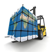 Worldwide delivery — Stock Photo