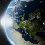 Sun over Europe — Stock Photo