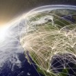 Network over North America — Stock Photo