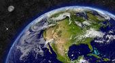North America on planet Earth — Foto Stock